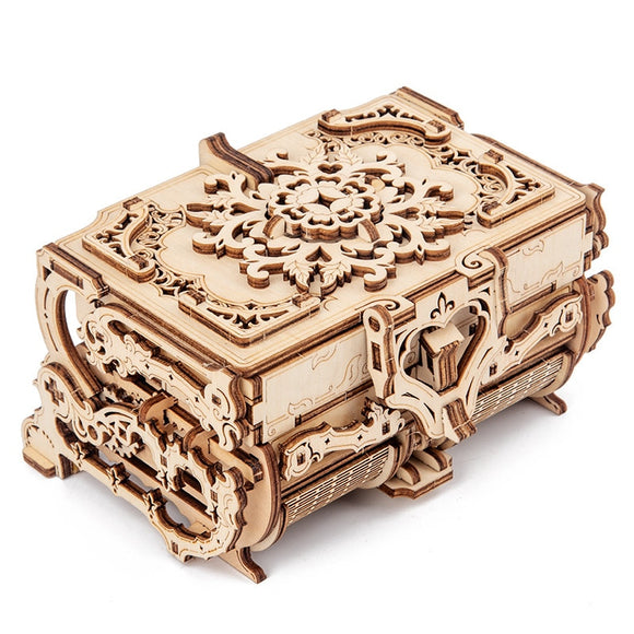 DIY 3D Jewellery Box Wooden Puzzle