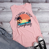 Salt Water Heals Everything | Summer Sleeveless T-Shirt
