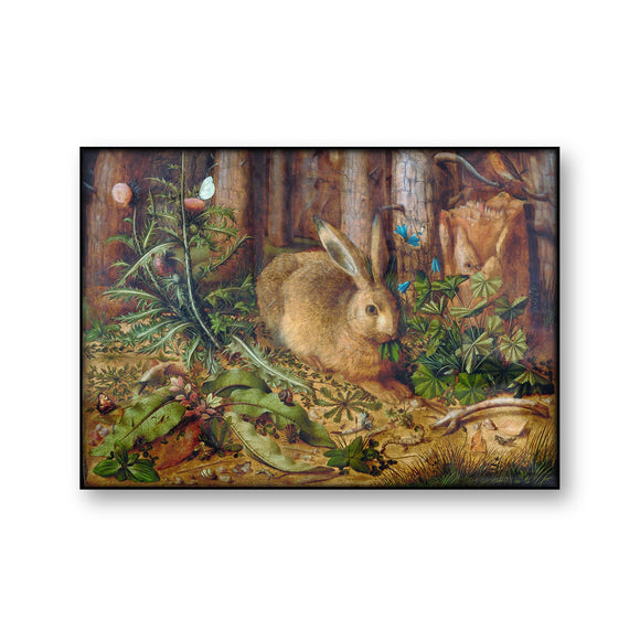 A Hare in the Forest | Hans Hoffmann Vintage Poster | Woodland Decor | Canvas Print