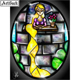Stained Glass Mermaid (& Friends) | CRYSTAL MOSAIC DIY PAINTING