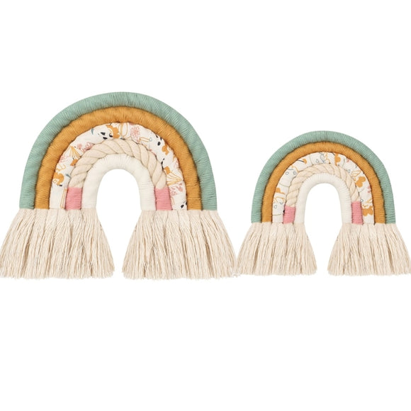 Nordic Style Floral Rainbow Tapestry Wall Hanging Decorations