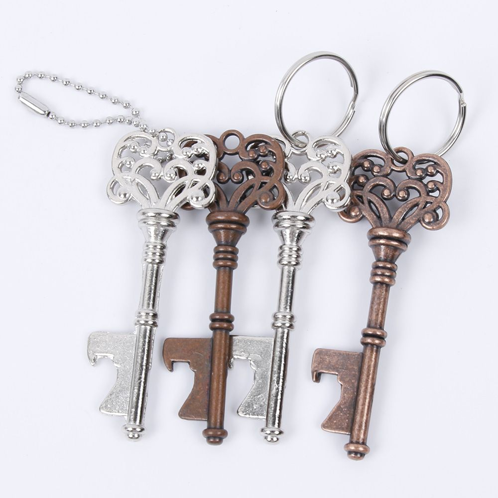 Vintage Key Bottle Opener and Key Ring