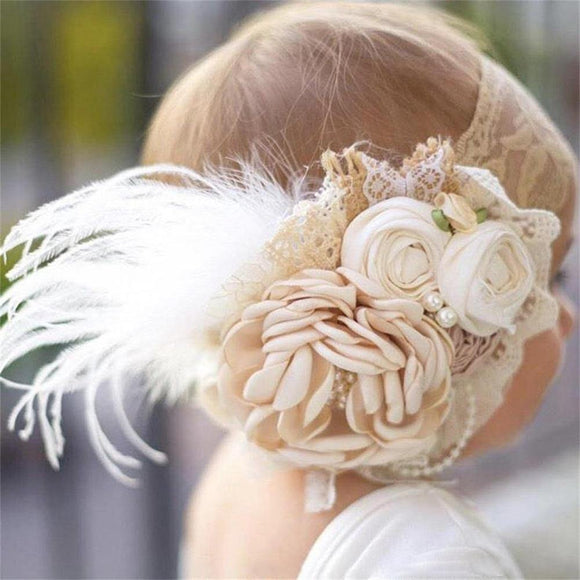 Vintage Flower Headband Baby Girls Headwraps