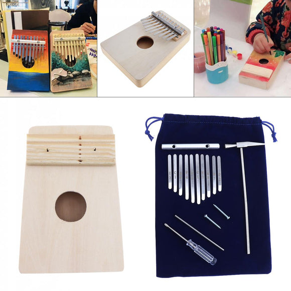 Paint Your Own 10 Key Kalimba DIY Kit