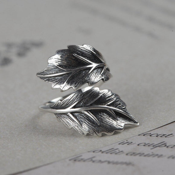 Woodland Leaf Ring | 925 Sterling Silver