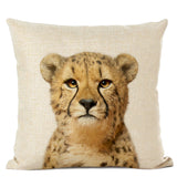 Cute Baby Animals Linen Cushion Covers