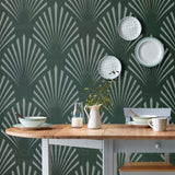 Large Wall Stencils | Art Deco Shell