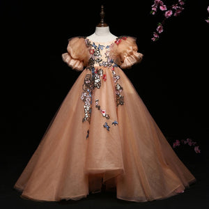 Peach and The Butterflies | Flower Girls Children Ball Gowns | Woodland Photoshoot Dresses
