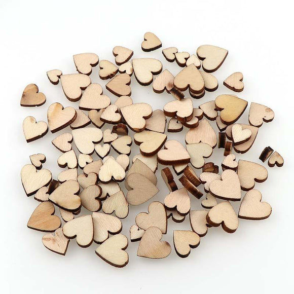 100 Wooden Hearts | DIY Craft Supplies