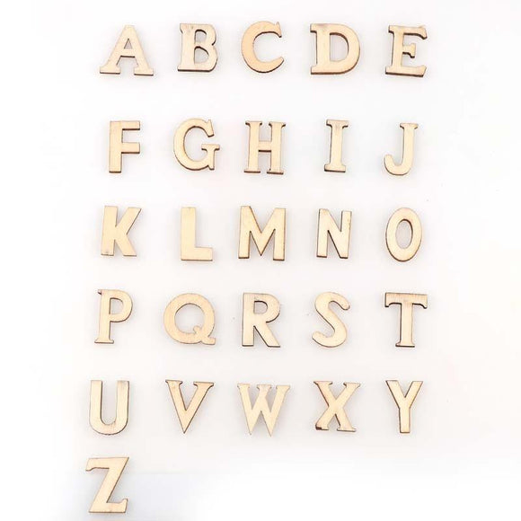 100 Wooden Letters