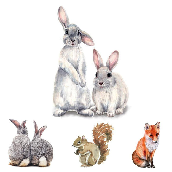 Cute Animals Nursery Wall Decor | Removable Wall Stickers