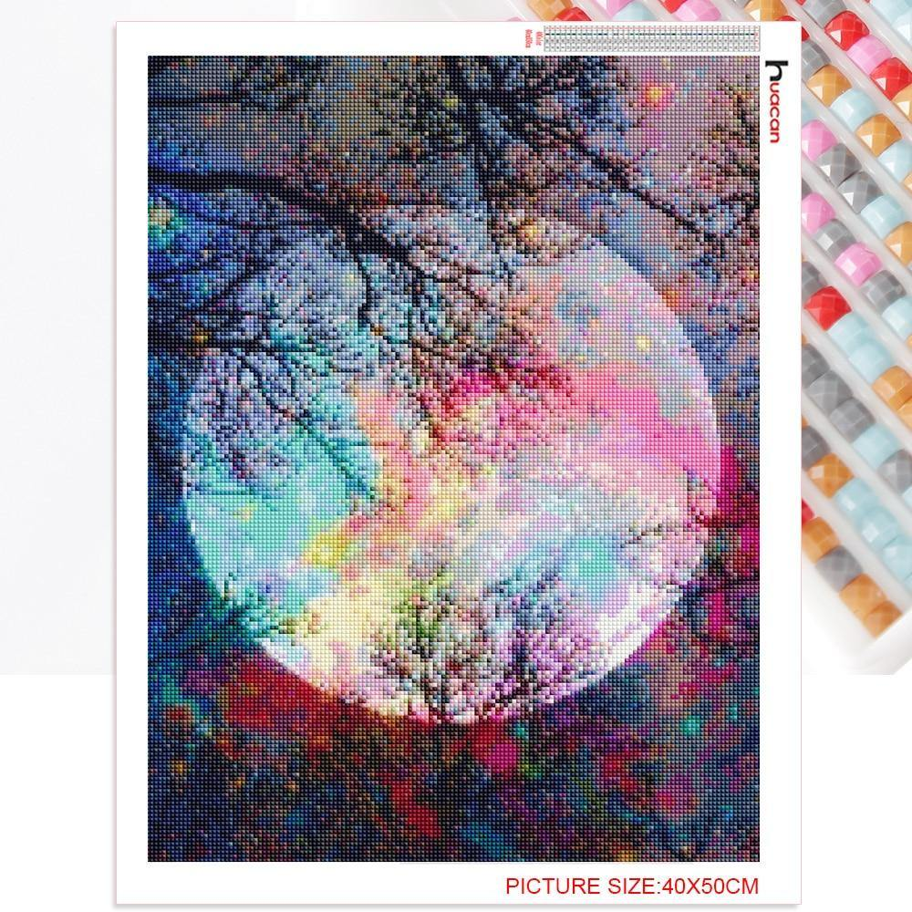 Full Moon CRYSTAL MOSAIC DIY PAINTING - Woodland Gatherer