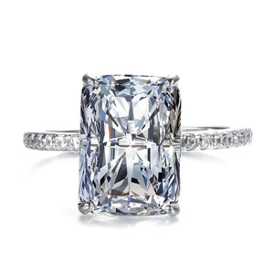 The Queen's Stolen Treasures | S925 Sterling Silver Ring Sparkling Square Cubic Zirconia