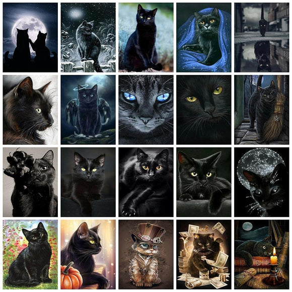 Black Cats | CRYSTAL MOSAIC DIY PAINTINGS