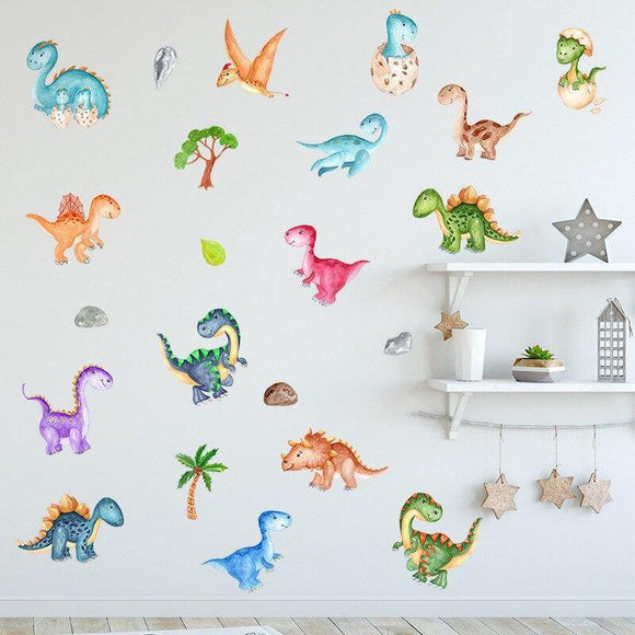 Cartoon Dinosaur Wall Sticker For Kids Room | Wall Decal Stickers Home Decor
