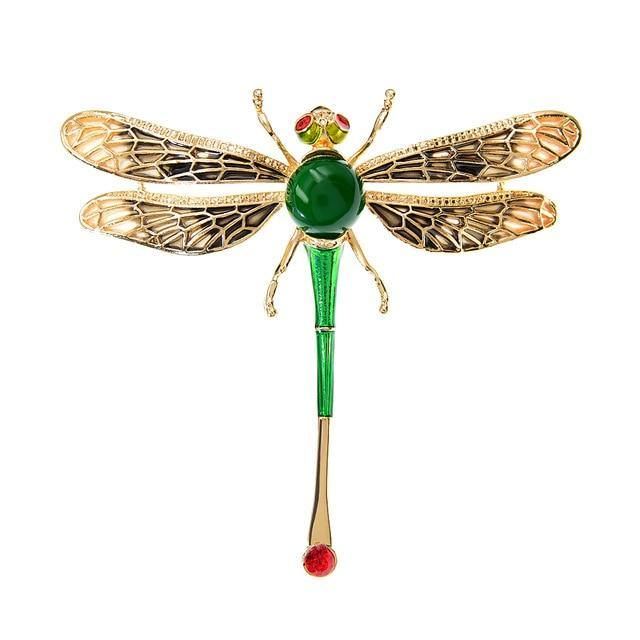Large Dragonfly Brooches | Enamel Pin | 8 Colours - Woodland Gatherer