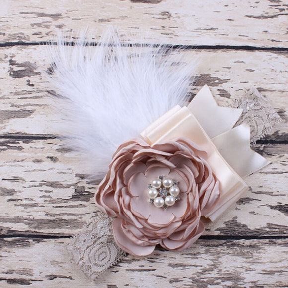 Bubby Girl's Sparking Feather Headband | Photography Props