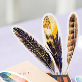 30 pcs/box Paper Feather Bookmarks