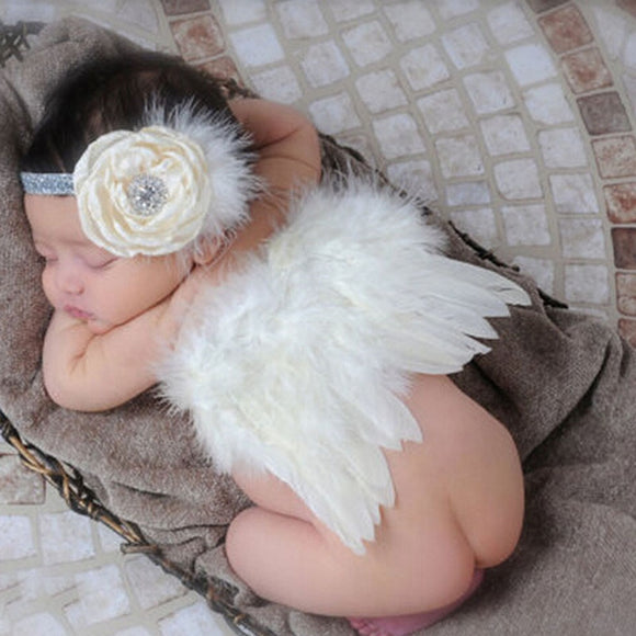 Baby Angel Wings with Headband | Newborn Photography Props