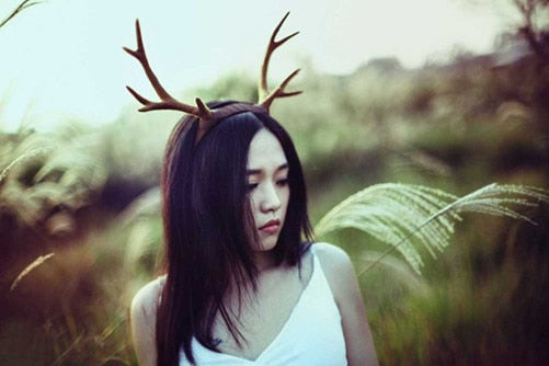 Antlers Brown Deer Headband