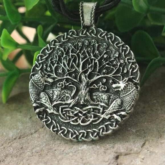 Norse Viking Wolves Tree of Life Necklace Pendant Jewellery Fashion | Woodland Gatherer | Australian Online Store | Gifts & Treasures | Special Occasions & Everyday Fun | Boho Life | Whimsical Treats | Jewellery | Fashion | Crafting DYI | Stationery | Boho Festival Fashion