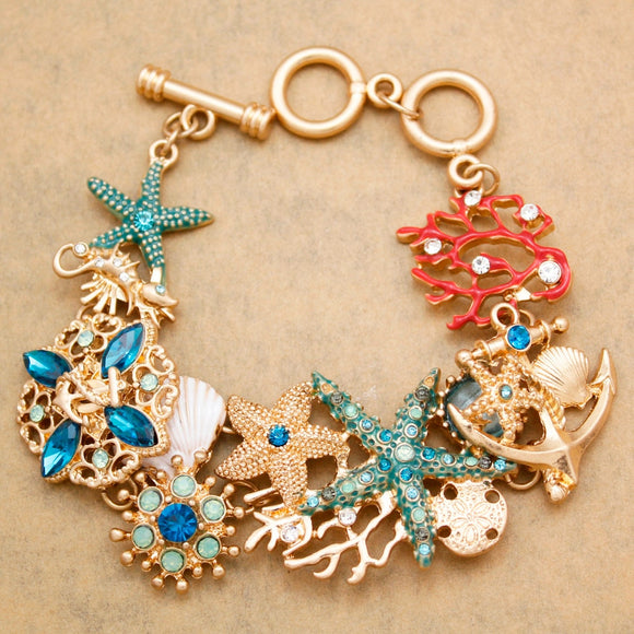 Mermaid Charm Bracelet Pins Brooches Earrings Jewellery Fashion Online Gift Store | Woodland Gatherer | Australian Online Store | Gifts & Treasures | Special Occasions & Everyday Fun | Boho Life | Whimsical Treats | Jewellery | Fashion | Crafting DYI | Stationery | Boho Festival Fashion