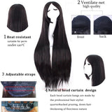 Extra Long Straight Wig | 80cm 32 inches | Heat Resistant Wigs | Red Purple Pink Black