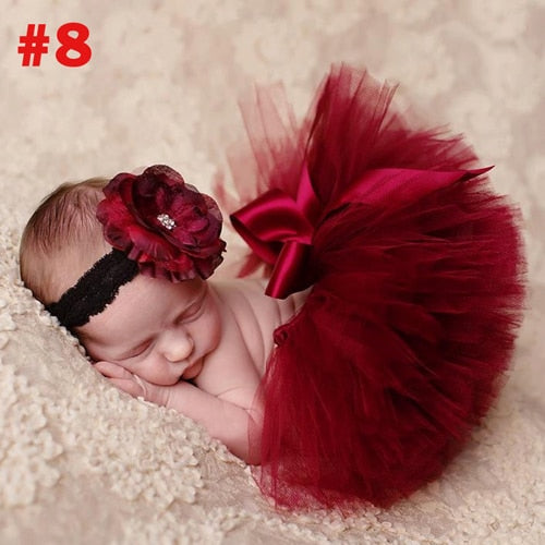 Bubby Tutu with Headband | Newborn Photography Prop
