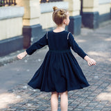 Dutch Girl Embroidered Long Sleeve Cotton Dress