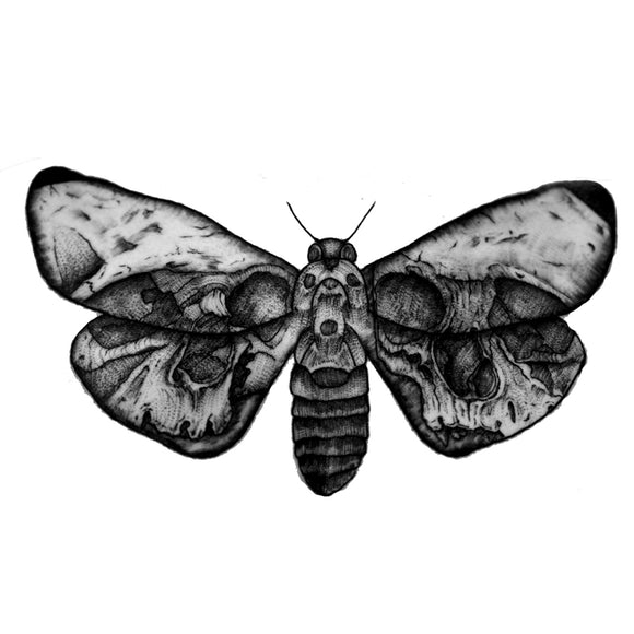 Moth Waterproof Temporary Tattoos