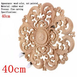 Round Wooden Flower Furniture Decorative Embellishment