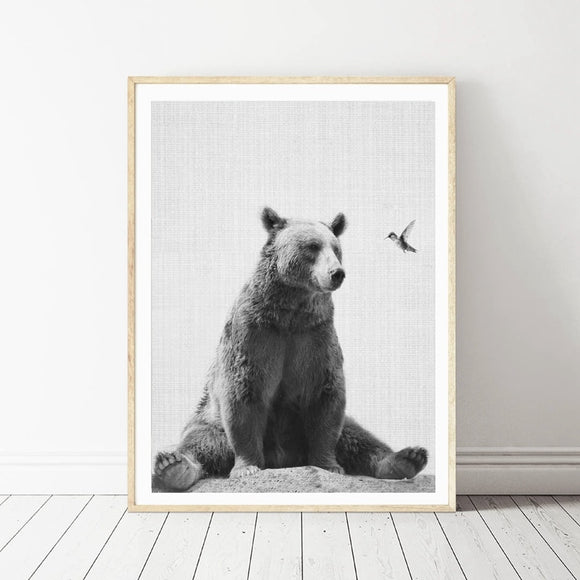 Woodland Animal | Bear | Canvas Prints | Nursery Wall Art | Home Decor