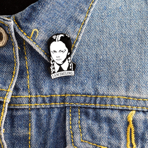 Wednesday Adams | I am smiling | Enamel Pin