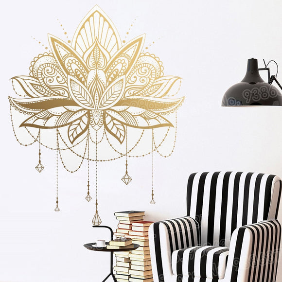 Mandala Lotus Vinyl Wall Stickers | Removable Wall Decal