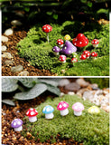 TWENTY Red Mushrooms! Fairy Garden Miniatures