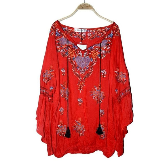 Bohemian Embroidered Long Shirt | 4 Colours