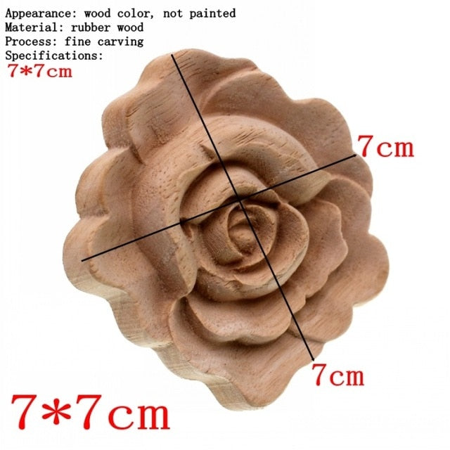 Rose Wood Carving Furniture Embellishment