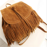 Vintage Suede Fringed Backpack