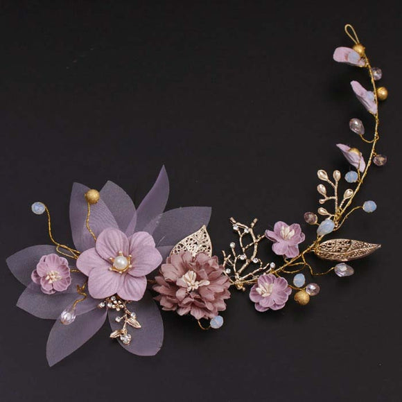Handmade Pink Floral Headdress | Hair Accessories