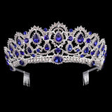 European Drop Crystal Crowns With Comb | Different Colours Available