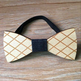 Geometric Designs Wooden Bowties