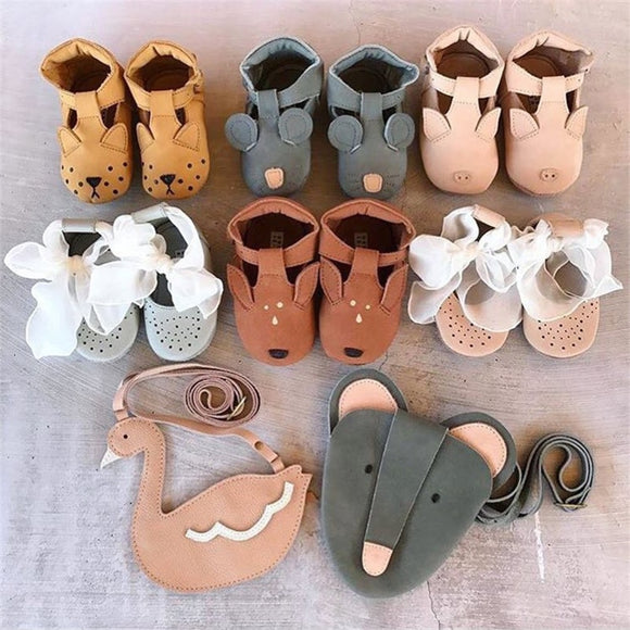Cute Animals | Baby Walker Shoes | Genuine Leather