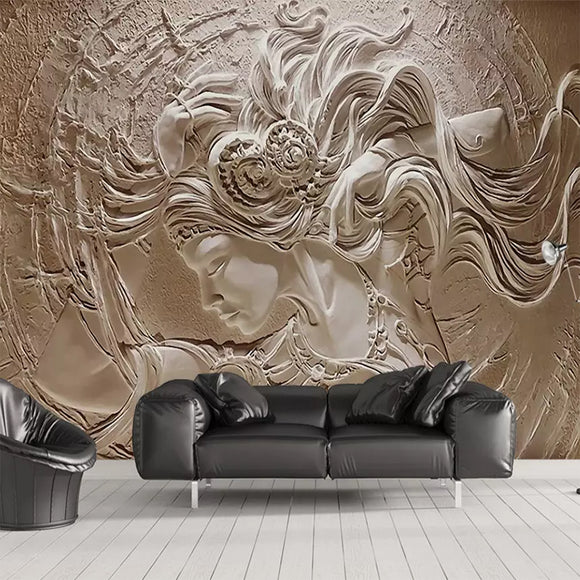 European Goddess Mural Wallpaper | 3D Effect Mural