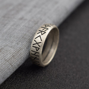 Viking Rune Ring with Elder Futhark Runes | Norse Ring Scandinavian