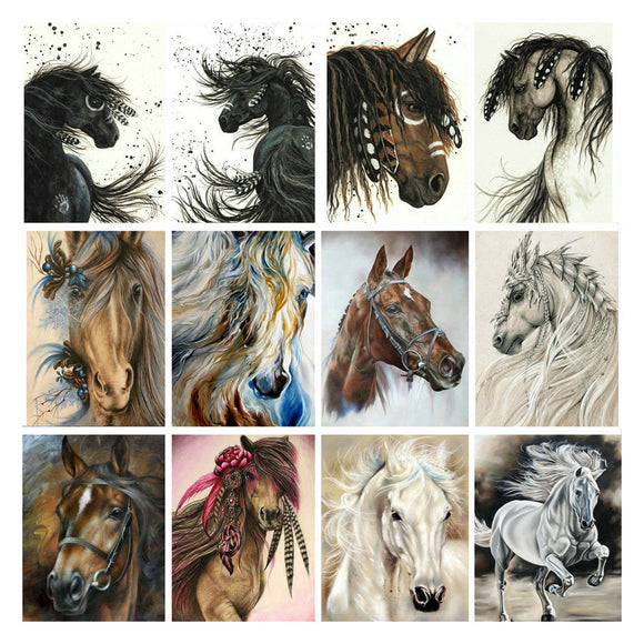 DIY Horse Crystal Mosaics | Gem Paintings | Boho Brumbies