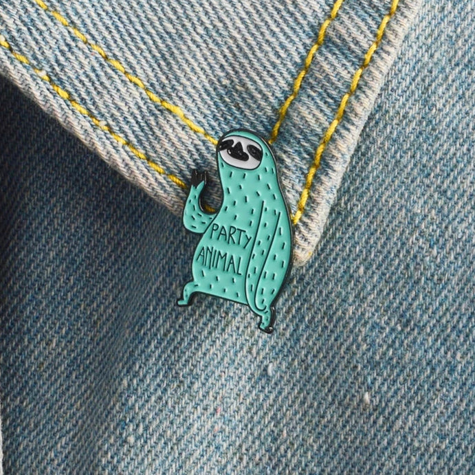 Sloth Enamel Pin | Party Animal