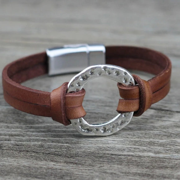 Genuine Leather Wrist Band