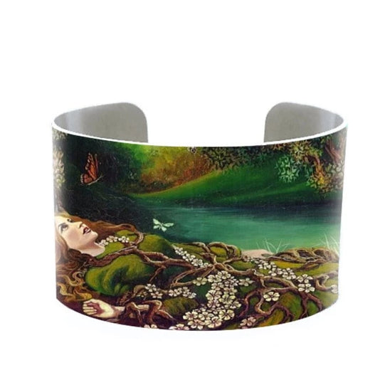 Bohemian Goddess Metal Cuffs |  Earth Woman Bracelet | Handmade Jewellery | Bangle | Ophelia Pagan Mythology