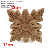 Flower Carving Natural Wooden Tiles