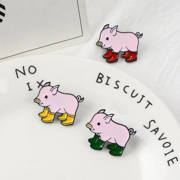 Enamel Pin | Piggies in Wellies | 1 piece